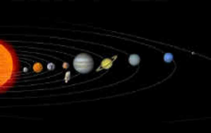 row planets in space - photo #21